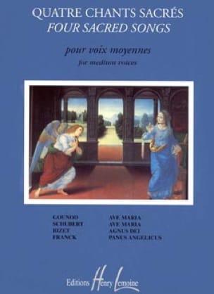 4 Chants Sacrés. Voix Moyenne - Partition - laflutedepan.com
