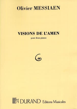 Visions de l'Amen. 2 Pianos MESSIAEN Partition Piano - laflutedepan