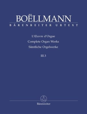 Oeuvre d'Orgue Volume 3-3. Léon Boëllmann Partition laflutedepan
