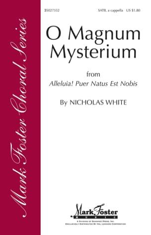 O Magnum Mysterium Nicholas White Partition Chœur - laflutedepan