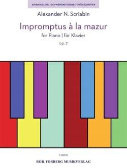 impromptus à la mazur Opus 7 - SCRIABINE - laflutedepan.com