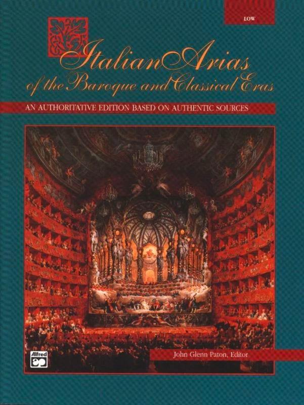 Italian Arias Of The Baroque And Classical Eras - Voix Grave - laflutedepan.com