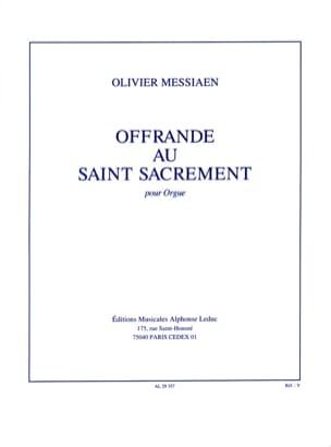 Olivier Messiaen - Ofrenda al Santísimo Sacramento - Partition - di-arezzo.es