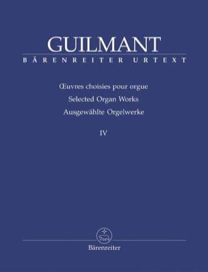 Oeuvres Choisies Pour Orgue Volume 4 Alexandre Guilmant laflutedepan