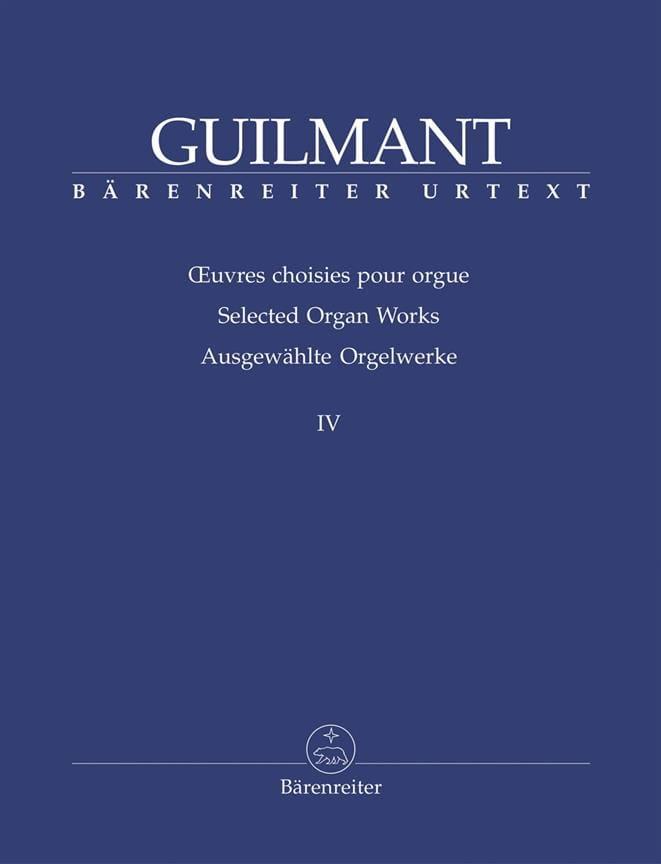 Oeuvres Choisies Pour Orgue Volume 4 - laflutedepan.be