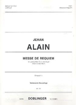Messe de Requiem. Choeur seul Jehan Alain Partition laflutedepan
