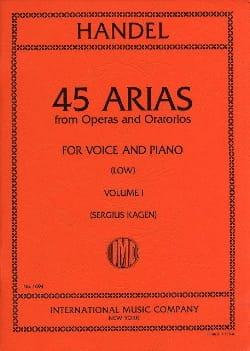 45 Arias Volume 1. Voix Grave HAENDEL Partition laflutedepan
