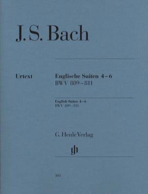 Suites Anglaises 4-6 BWV 809-811 BACH Partition Piano - laflutedepan
