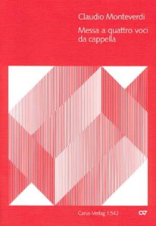 Messa A 4 Voci Da Cappella - MONTEVERDI - Partition - laflutedepan.com
