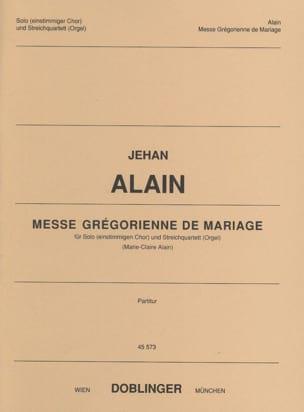 Messe grégorienne de Mariage Jehan Alain Partition laflutedepan