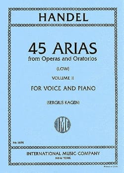 45 Arias Volume 2. Voix Grave HAENDEL Partition laflutedepan
