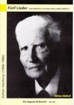 5 Lieder - Zoltan Gardonyi - Partition - Mélodies - laflutedepan.com