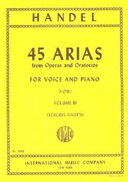 45 Arias Volume 3. Voix Grave HAENDEL Partition Opéras - laflutedepan