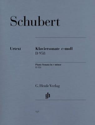Sonate pour piano en ut mineur D958 SCHUBERT Partition laflutedepan