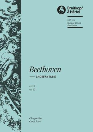 BEETHOVEN - Chorfantasie C-Moll Opus 80. Choir alone - Partition - di-arezzo.com