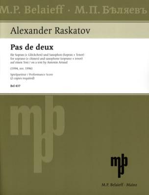 Pas de Deux Alexander Raskatov Partition Saxophone - laflutedepan