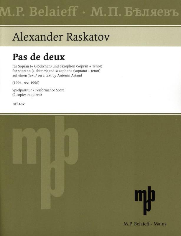 Pas de Deux - Alexander Raskatov - Partition - laflutedepan.com