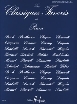 Classiques Favoris Volume 1a Complément Partition laflutedepan