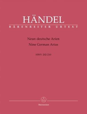 HAENDEL - 9 Deutsche Arien Hwv 202-210 - Partition - di-arezzo.co.uk