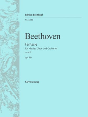 Chorfantasie C-Moll Opus 80 BEETHOVEN Partition Chœur - laflutedepan