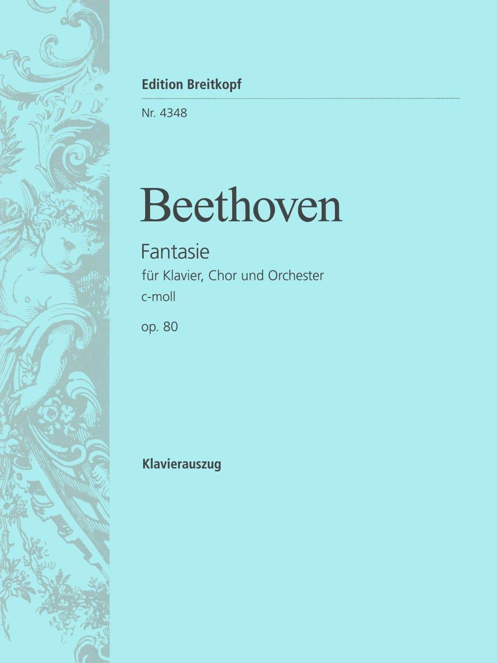 Chorfantasie C-Moll Opus 80 - BEETHOVEN - Partition - laflutedepan.com