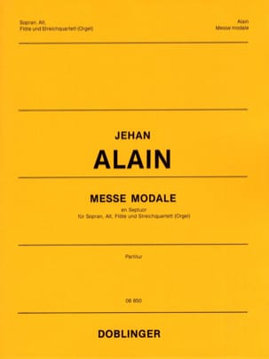 Messe Modale En Septuor. Conducteur Jehan Alain Partition laflutedepan