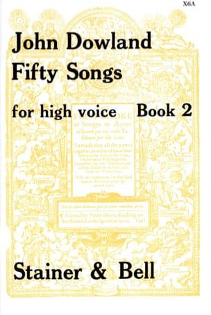 50 Songs. Voix Haute Volume 2 DOWLAND Partition laflutedepan