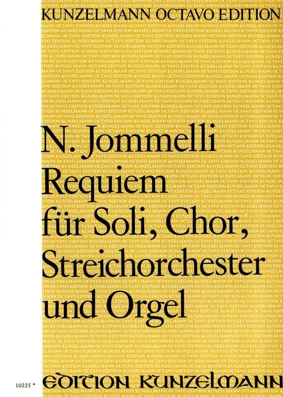 Requiem. Choeur seul - Niccolo Jommelli - Partition - laflutedepan.com