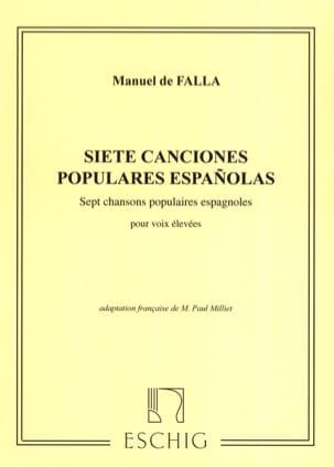 7 Canciones Populares Espanolas. Voix Haute DE FALLA laflutedepan