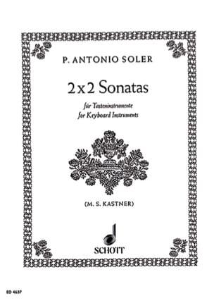 2 x 2 Sonatas Soler Partition Clavecin - laflutedepan