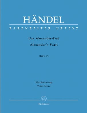 Das Alexander-Fest oder Die Macht der Musik. Hwv 75 - laflutedepan.com