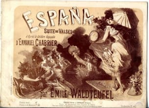 Espana. 4 mains Emile Waldteufel Partition Piano - laflutedepan