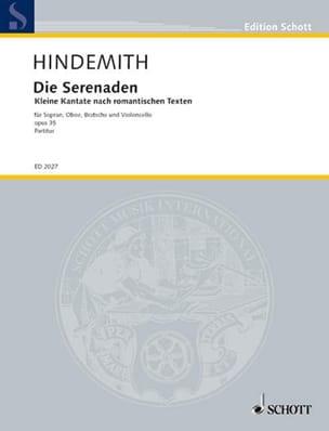 Die Serenaden, Opus 35 HINDEMITH Partition laflutedepan