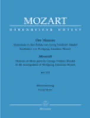 Der Messias Kv 572 - HAENDEL / MOZART - Partition - laflutedepan.com