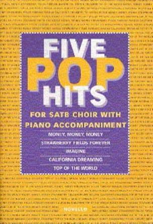 5 Pop Hits Partition Chœur - laflutedepan