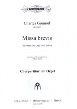 Missa Brevis A-dur. Choeur seul - GOUNOD - laflutedepan.com
