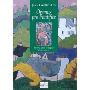 Oremus Pro Pontifice Op. 45-3 Jean Langlais Partition laflutedepan