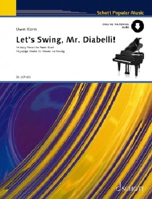 Let's Swing, Mr Diabelli. 4 Mains Uwe Korn Partition laflutedepan