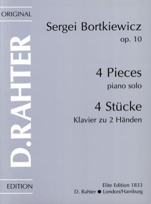 4 Pièces Op. 10 Serge Bortkiewicz Partition Piano - laflutedepan