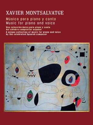 Musica para Piano y Canto Xavier Montsalvatge Partition laflutedepan