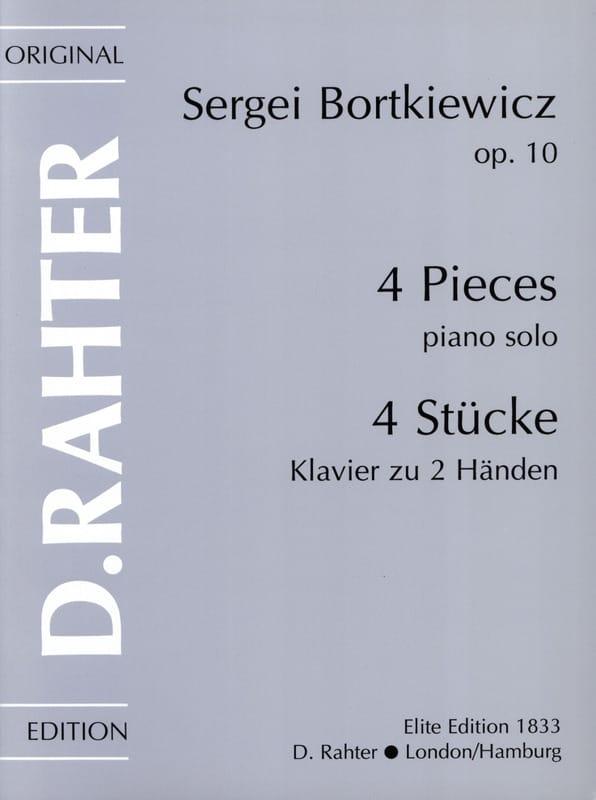 4 Pièces Op. 10 - Serge Bortkiewicz - Partition - laflutedepan.com