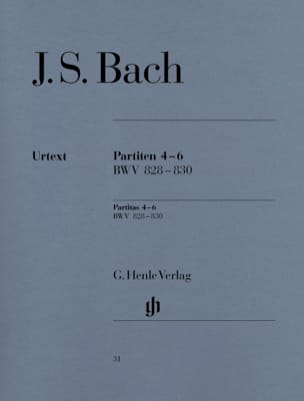 Partitas 4-6 Bwv 828-830 BACH Partition Piano - laflutedepan