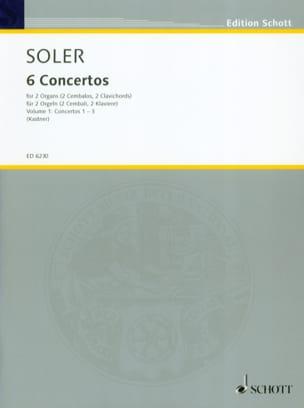6 Concertos A 2 Orgues Volume 1 Antonio Soler Partition laflutedepan