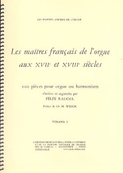Les Maîtres Français De L'orgue Volume 1 Partition laflutedepan