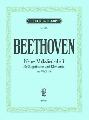 Neues Volksliederheft Woo 158 Chant Conducteur BEETHOVEN laflutedepan