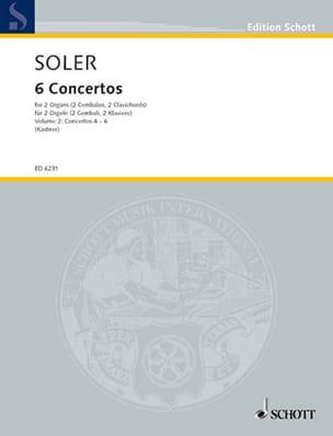 6 Concertos A 2 Orgues Volume 2 Antonio Soler Partition laflutedepan