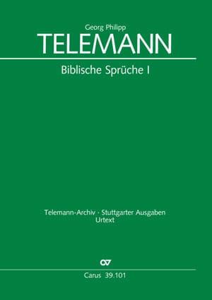 Biblische Sprüche 1 - TELEMANN - Partition - Chœur - laflutedepan.com