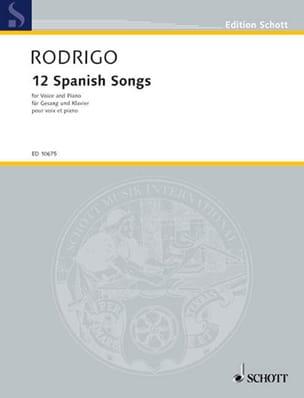 12 Spanish Songs RODRIGO Partition Mélodies - laflutedepan