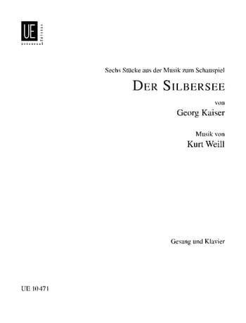 Der Silbersee 6 Pièces - WEILL - Partition - Opéras - laflutedepan.com