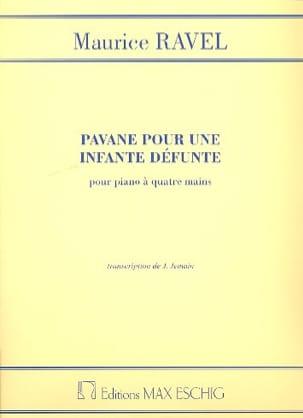 Pavane Pour une Infante Défunte. 4 mains RAVEL Partition laflutedepan